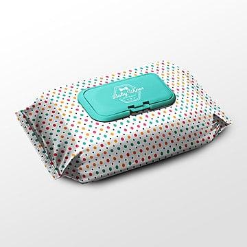 Pack de toallitas de Empaque PSD mock up