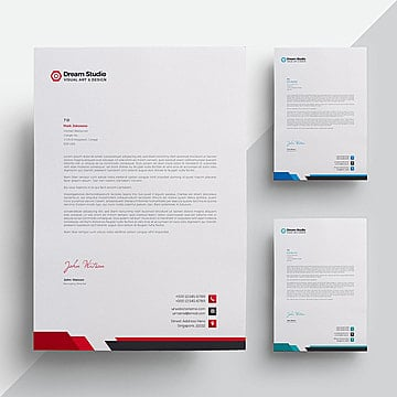 Stationary png images vectors and psd files free download on pngtree modern company letterhead letterhead template design png and vector spiritdancerdesigns