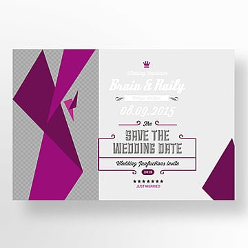 Marriage postcard Template