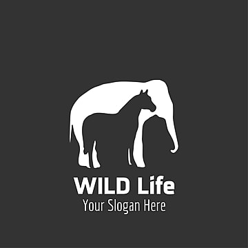 Wild life logo with dark background