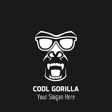 Cool Gorilla logo deisgn with dark background