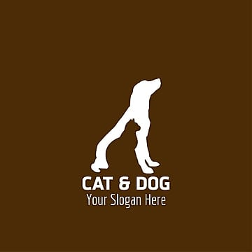 Cats and Dogs with brown background