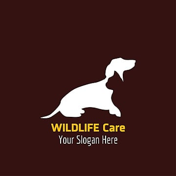Wildlife care logo with dark background