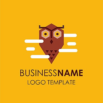 Business name logo template with yellow background