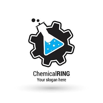 Chemical ring logo design