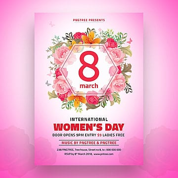 8 de marzo de Womens dia Flyer template
