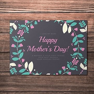 happy mothers day card template Template