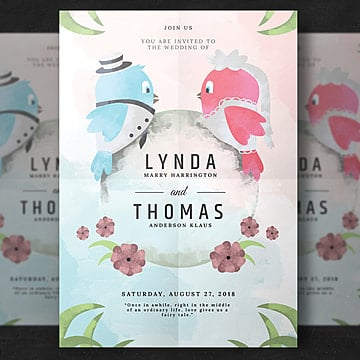 Wedding Flyer wedding menu Template