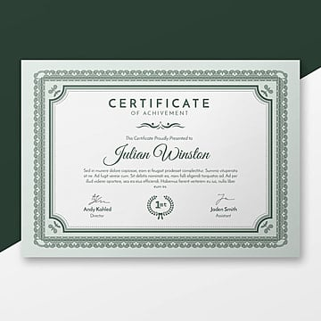 366 certificate templates for free download on pngtree