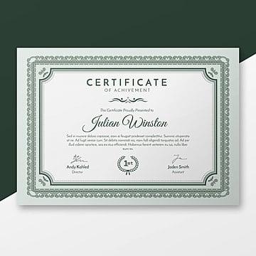 modèle de certificat de élégante
