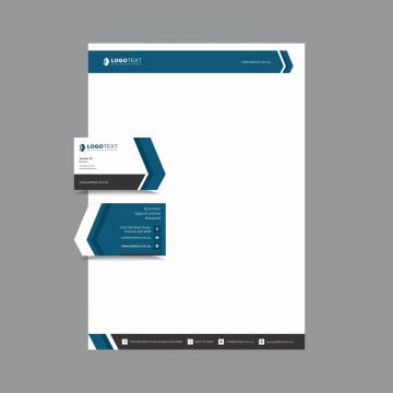 Professional Business And Letterhead Design Layout Fully Editable Vector Graphics Corporate Black Blue