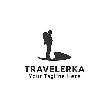 Travelerka Logo Traveler Man Human PNG And Vector
