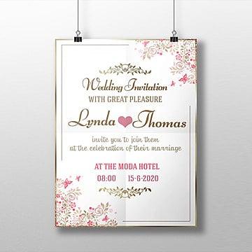 Convite de Casamento, Casamento, Casamento Cartão Convite De Casamento Casamento Logo, Business Card TemplatesPNG e PSD
