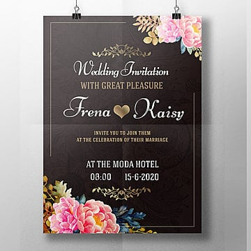Wedding Invitation Templates Png Vectors PSD And Clipart For Free