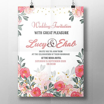 Wedding Invitation Templates Png Vector Psd And Clipart