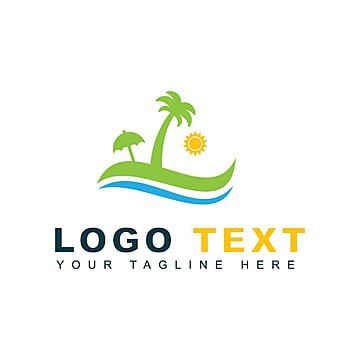 Beach Travel Logo Template