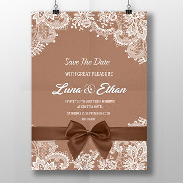 Wedding invitation templates png images vectors and psd files lace wedding old paper card wedding titles wedding cartoon bride vector png and stopboris Images