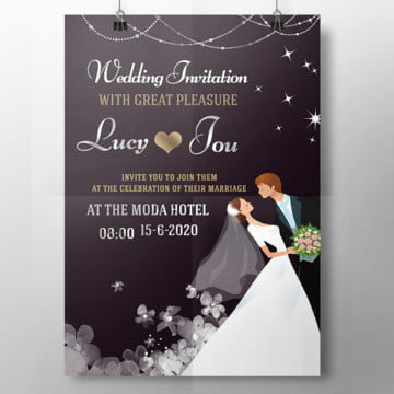 love night wedding card
