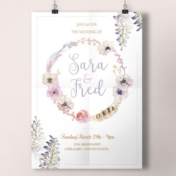 floral watercolors templates 14 design templates for free download