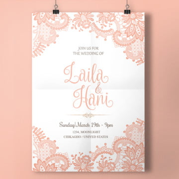 Birthday invitation png vectors psd and clipart for free download pink lace wedding card lace pink wedding png and psd stopboris Choice Image