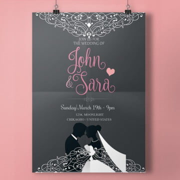 سكربت بطاقات زواج, Wedding, Wedding Invitation, Dove  PNG و PSD