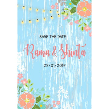 Rustic Blue Floral PNG And Vector