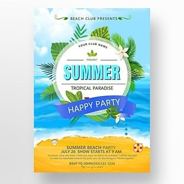 Summer poster design Template