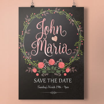 free download save the date template