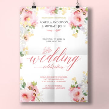 watercolor spring wedding invitation watercolor spring wedding invitation wedding invitation wedding png and