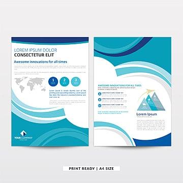 La oscuridad y la luz azul Corporate Business brochure