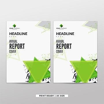 Green Abstract informe anual plantilla