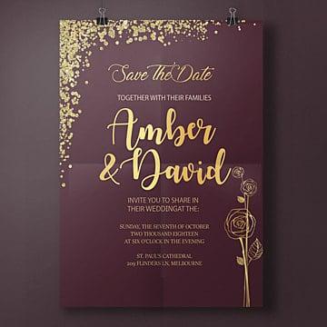 гламур ночь свадебные приглашения свадьба Шаблон