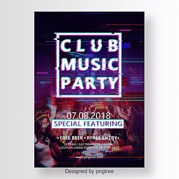 club music party, Club Music Party, Abstract, Layout PNG and PSD