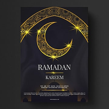 golden islam ramadan moon flyer Template