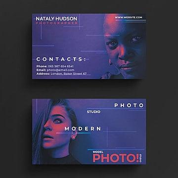 Tarjeta de visita de fotografia