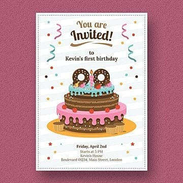 Convite de aniversário, Convite De Aniversário, Aniversário, ConvitePNG e PSD