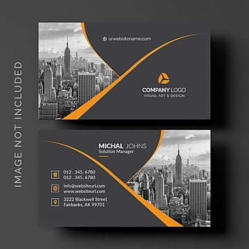 Black Business Card PNG And PSD