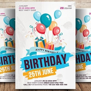 Birthday invitation png images vectors and psd files free birthday flyer anniversary bash bday bash png and psd filmwisefo