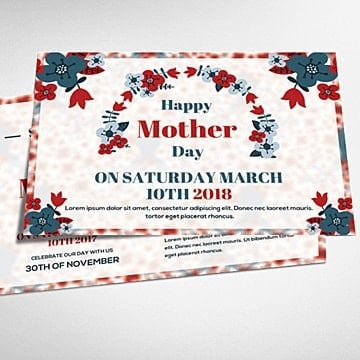 happy mother day card Template