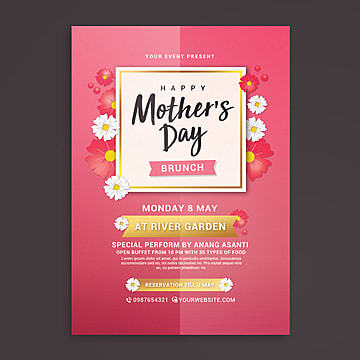 mothers day brunch flyer Template