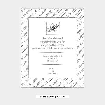 Gris y blanco acuarela vector tarjeta de invitación