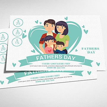 Fathers Day Cards Template