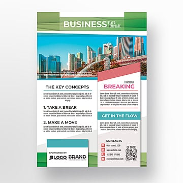 simple flyer template psd