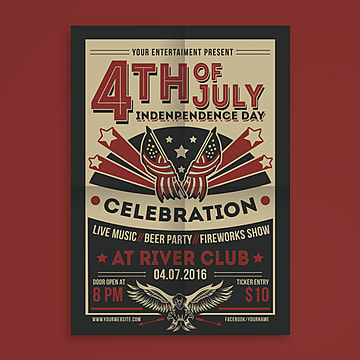 4th of july american flag american independence day usa independence day vintage style Template