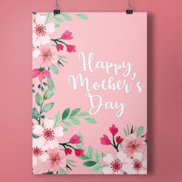 floral mother day poster Template