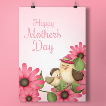 happy mother day bird Template