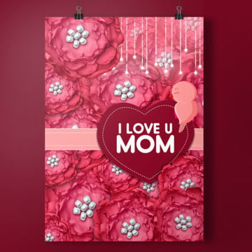 elegant mothers day card Template