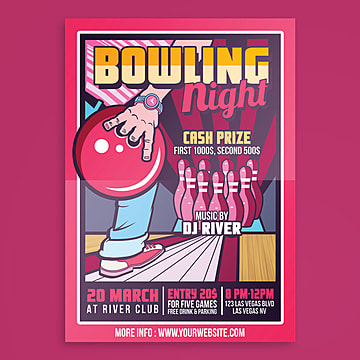 bowling night tournament Template