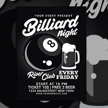 Billiard Night Flyer Template