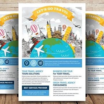 business travel tour flyer Шаблон